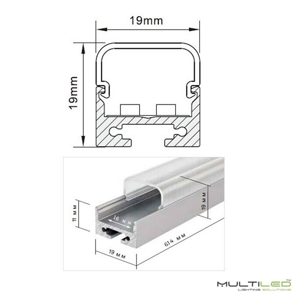 Empotrable Downlight Led COB 3W Blanco Cálido