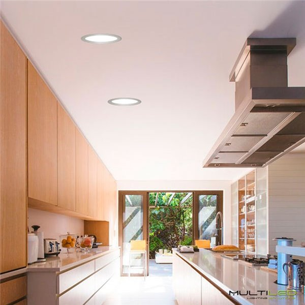 Empotrable Downlight Led Rectangular COB 9W 3 Cabezas Blanco Cálido