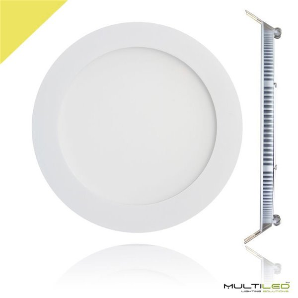 Empotrable Downlight Led 18W Extraplano PC Blanco Cálido