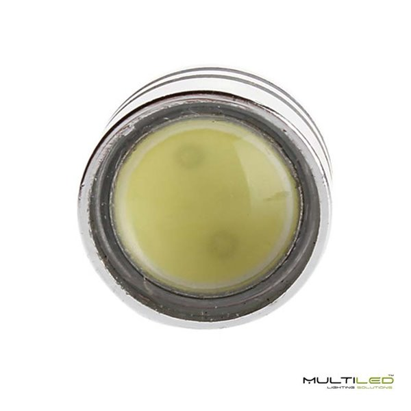 Lampara Led Colgante de Techo 64W Cromada Round Blanco calido