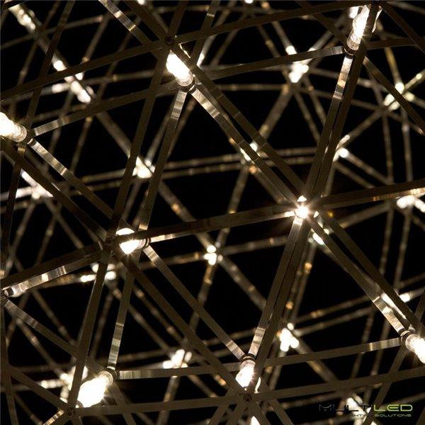Lampara Colgante Fulton negro/cobre
