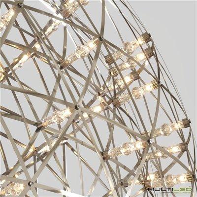 Controlador tira led RGB 12V-24V 24A/288W RF 8 botones plata