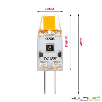 Dicroica Led Eco COB 7W GU10 Aluminio Plata  Blanco Frío (Regulable)