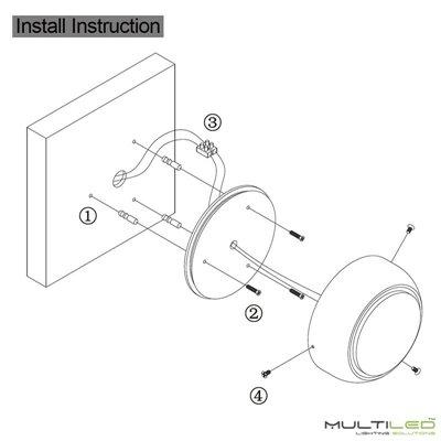 Antena transmisor controlador DMX para receptor Wifi Mi-Light