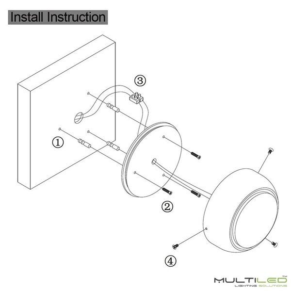 Antena transmisor controlador DMX tira led Wifi Mi-Light