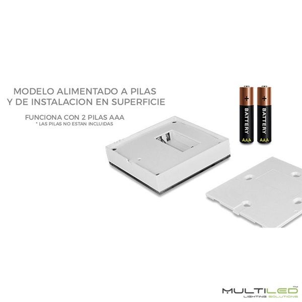 Aplique Led de interior-exterior Negro 6W Modelo Cube Blanco Cálido
