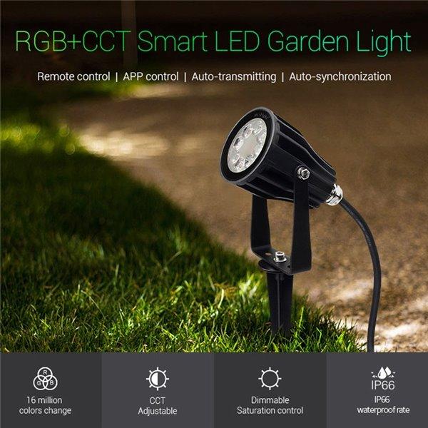Aplique Led de interior-exterior Negro 6W Modelo Cube Blanco Frío