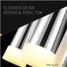 Lampara Led de Techo 64W 700+400+200mm Georgia Cristal K9