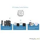 Lampara Colgante Loft moderna Ventus Negra y Cristal