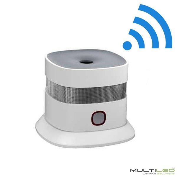 Lampara Colgante Loft moderna Aqua Blanca y Cristal