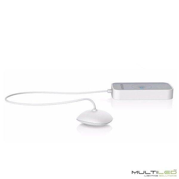Lampara Colgante Loft moderna Aura Blanca y Cristal