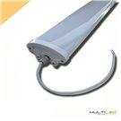 Lampara Colgante globo ratán blanca 500mm Loft moderna Fred