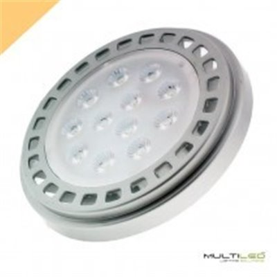 Foco Led Sumergible acero12W IP68 DC 24V Blanco Cálido