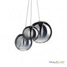 Lampara Colgante minimalista comedor 5 Cubos cristal Angelica