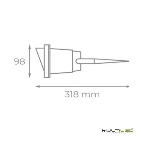 Lampara Colgante Retro Moderna Industrial Cristal Deus marrón ahumado