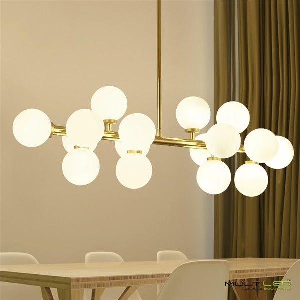Lampara Colgante de techo moderna Bender Blanco/Amarillo