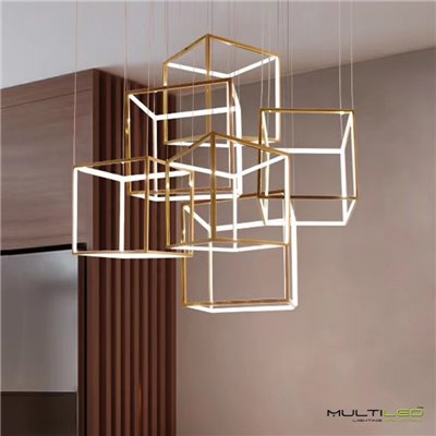 Aplique Led de Pared moderno espiral 8W Dora