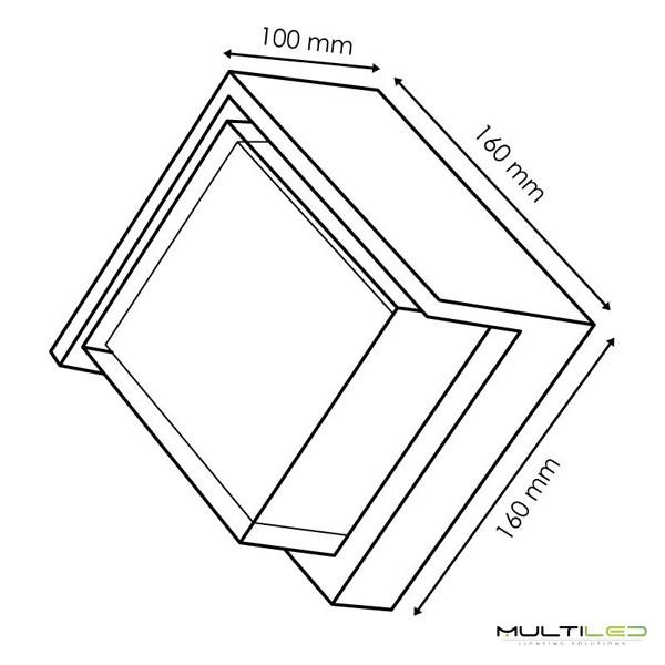 Regleta lineal plana Led de superficie SMD2835 40W - 120cm Blanco Frío