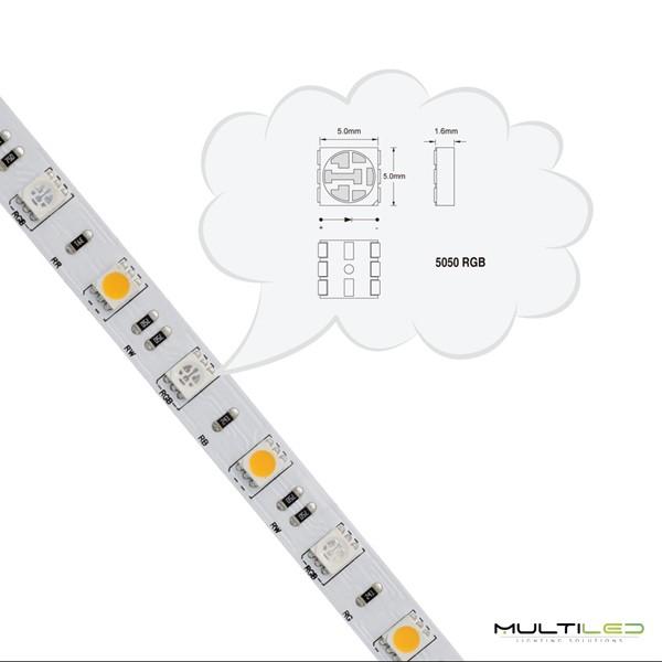 Regleta lineal plana Led de superficie SMD2835 20W - 60cm Blanco Frío