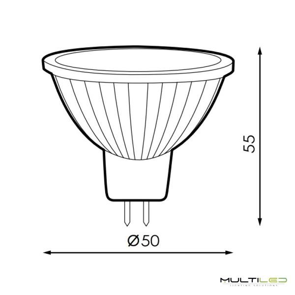Bombilla LED R7S 78mm COB 5W AC Blanco Calido