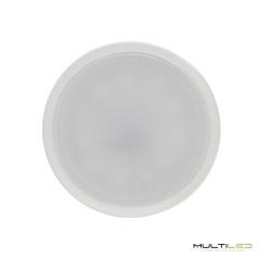 Dicroica Led Eco COB 7W GU10 Aluminio Plata  Blanco Neutro (Regulable)
