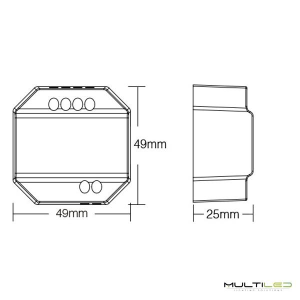 Lampara Led Colgante moderna acrílica 75W Ø 500 Moon